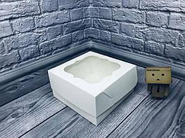 *10 шт* / Коробка под торт / 170х170х90 мм / Белая / окно-обычн