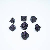 Игральные кубики (дайсы, кости) Черные матовые d4, d6, d8, d10, d00, d12, d20