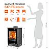 Піч опалювальна Kawmet Premium S17 (P5) Dekor 4,9 kW, фото 2