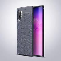 Чехол Auto Focus для Samsung Galaxy Note 10 Plus (N975) силикон Original Soft Touch темно-синий