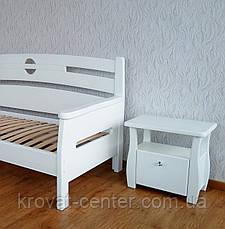 """Белая прикроватная тумбочка с ящиком """"Грета Вульф"""", фото 3"""