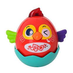 Детская игрушка неваляшка 3123 музыкальная сенсорная на аккумуляторе