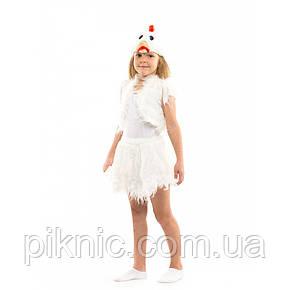 Карнавальный костюм Курочка для девочки 3-6 лет. Детский новогодний маскарадный, фото 2