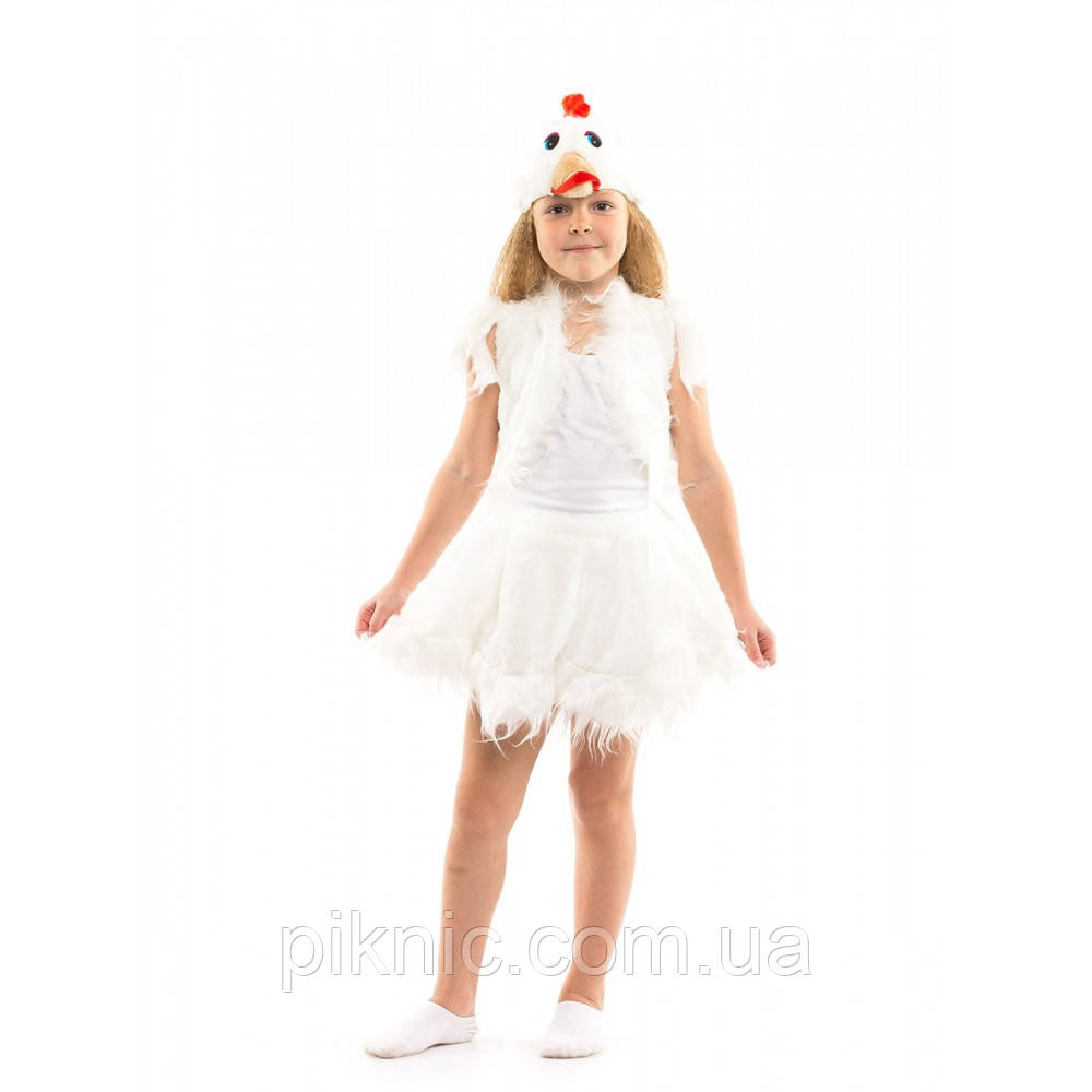 Костюм Курочка для девочки 3-6 лет. Детский новогодний карнавальный костюм Курча 342