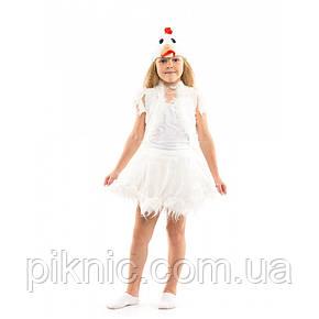 Костюм Курочка для девочки 3-6 лет. Детский новогодний карнавальный костюм Курча 342, фото 2