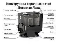 Печь варочная с конфоркой и стеклом тип-01 ЧК.C VANCOUVER LUX до 260 м.куб