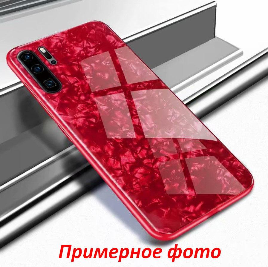 TPU+Glass чехол для Samsung Galaxy Note 10 2019 N970 Мрамор (4 цвета)