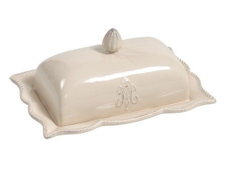 Маслянка кухонні біла керамічна Belldeco