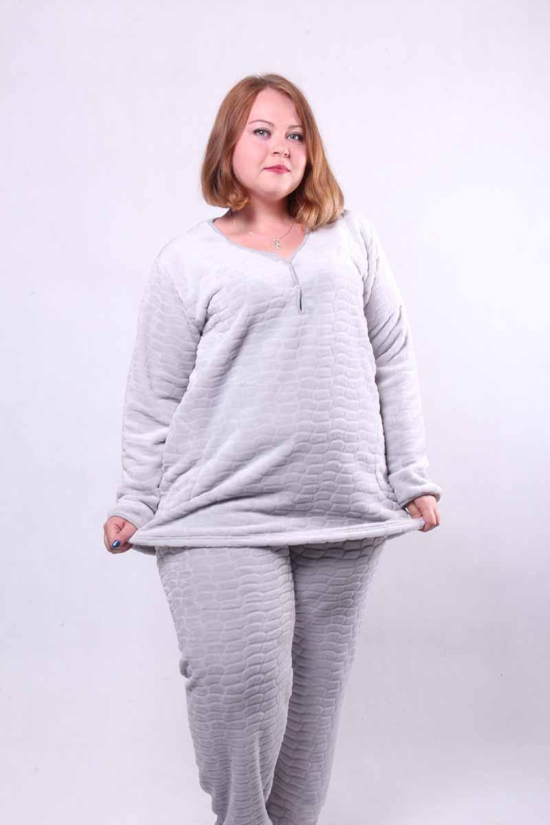 "Махровая пижама женская тёплая ""Soft"" 1499 44-56р ТОЖ-360105"