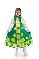 Детский карнавальный костюм для девочки «Матрешка» 110-125 см, зеленый, фото 1