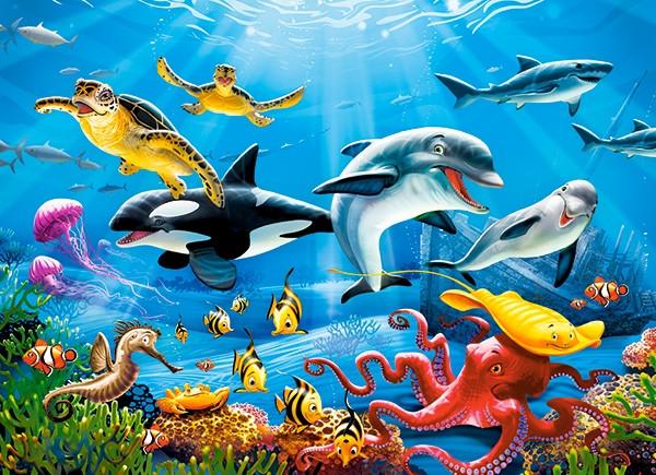 """Пазли 200 елементів """"Тропічний підводний світ"""""""