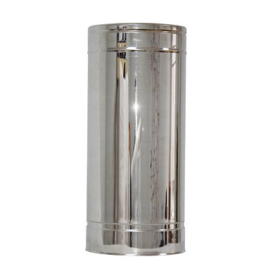 Труба дымоходная 0,5м нерж/нерж ø100/160мм