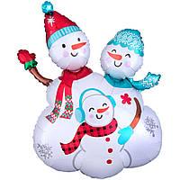 Фольга фигура большая снеговиков
