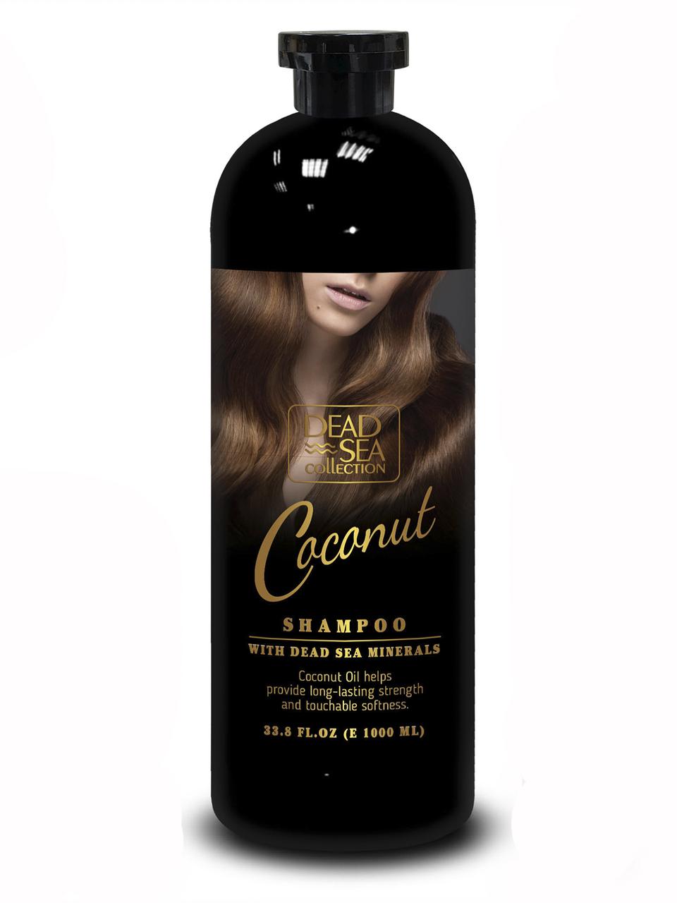Шампунь для волос Dead Sea Collection с минералами мертвого моря и кокосовым маслом (Black) 1000 мл