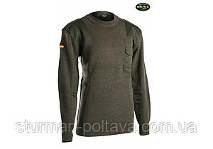 Светр вовняний армійський олива BW 80/WOLLE 20/POLYACRYL Mil-Tec