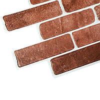 Панель ПВХ Стара цегла коричнева 1025х495