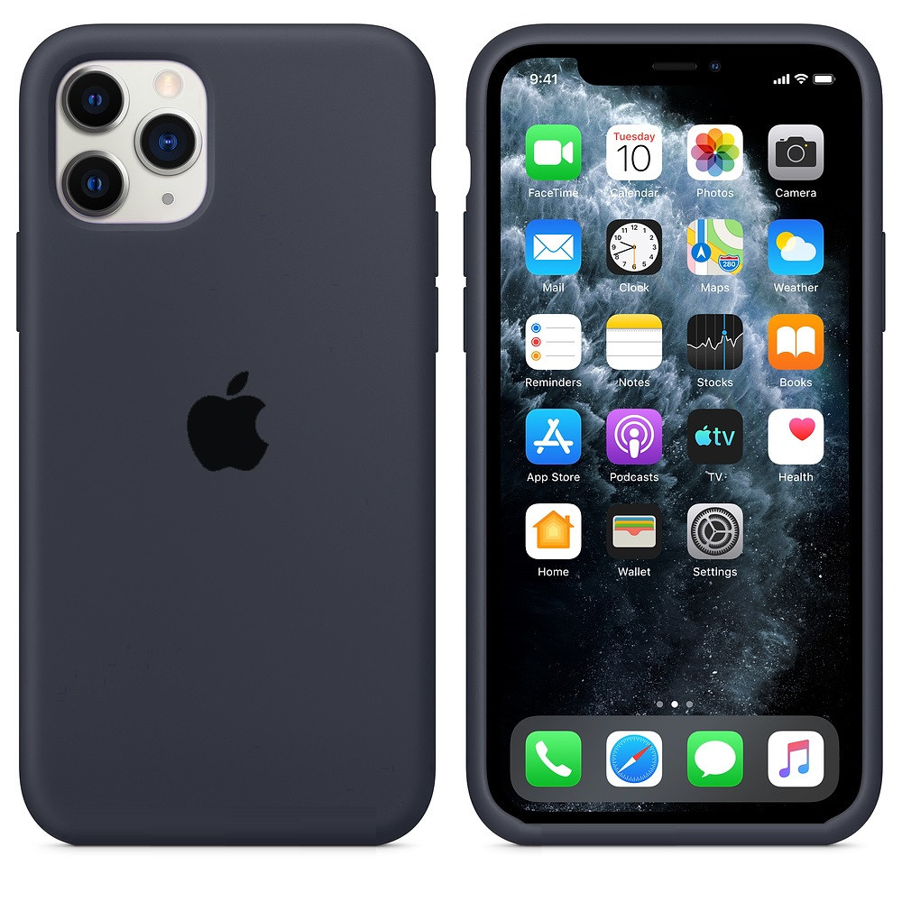 Apple / Чехол накладка xCase для iPhone 11 Pro Max Silicone Case  темно серый