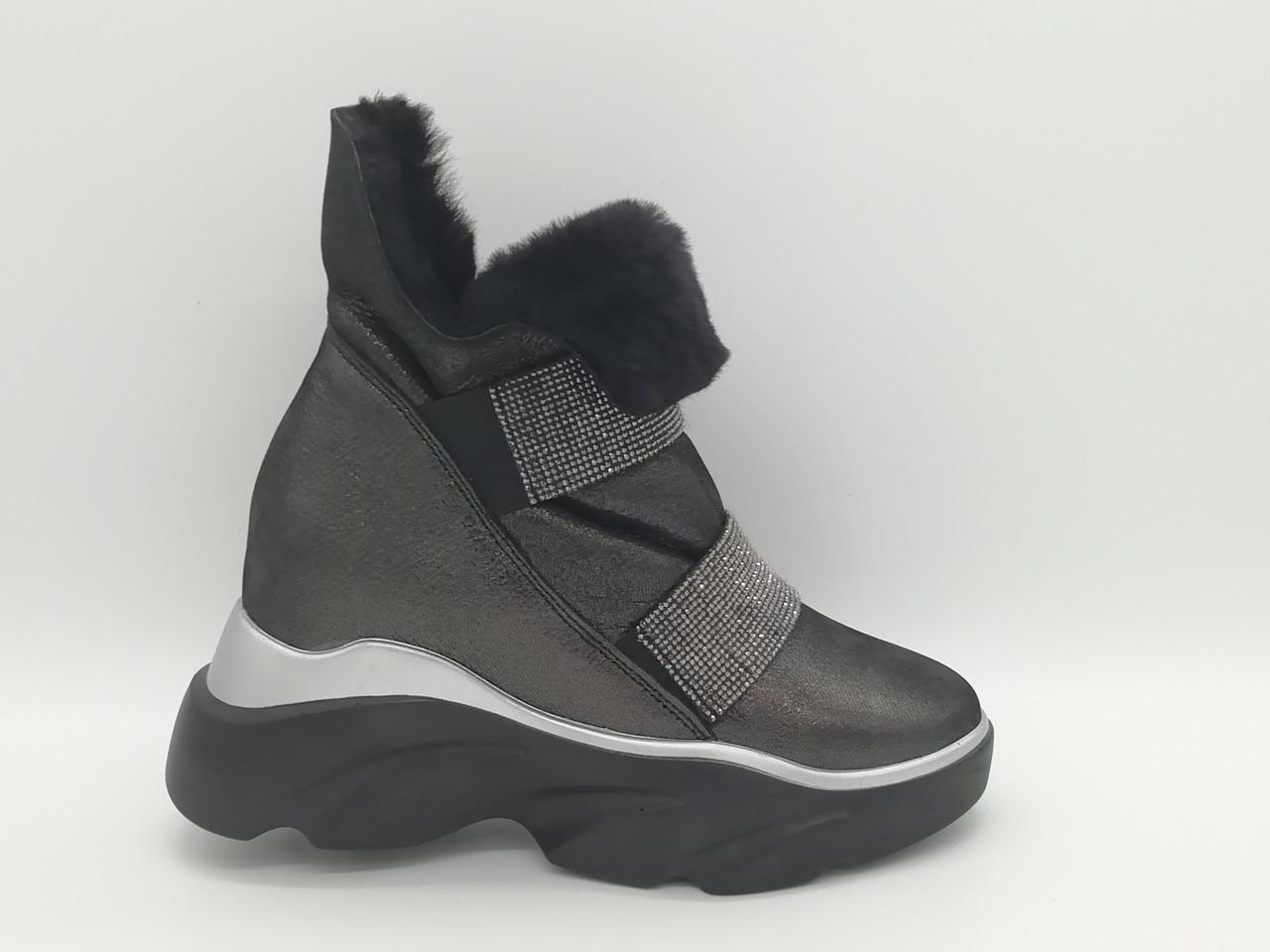 Зимние ботиночки на толстой подошве. Турция.