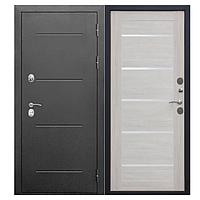 Входная морозостойкая дверь c терморазрывом Isoterma серебро Лиственница беж