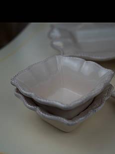 Пиалка комплект 4 штуки керамічна біла