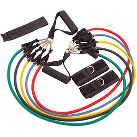 Эспандер многофункциональный Resistance Band 5 жгутов FI-801