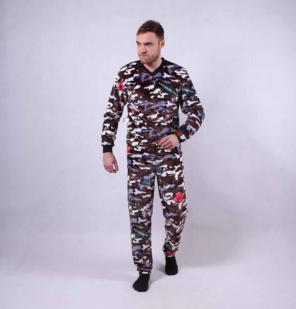 """Мужская махровая пижама """"Army"""" 1428 44-52р ТОМ-380003"""