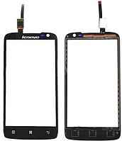 Тачскрин Lenovo S820 черный (сенсорный экран, стекло в сборе)