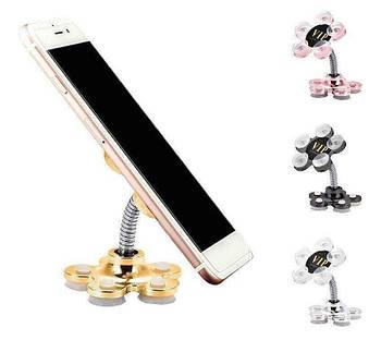 Мобильный силиконовый держатель Magic Sucker Mobile Phone Support для мобильных телефонов Gold