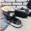 Ботинки-луноходы зимние женские /серые, 36-41, dr-17-168/, фото 4
