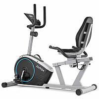 Велотренажер горизонтальний магнитный LX350 Silver для дома и спортзала