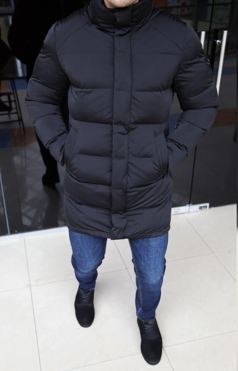 Куртка мужская Calvin Klein H0164 черная длинная
