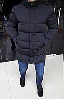 Куртка мужская Calvin Klein H0164 черная длинная, фото 1