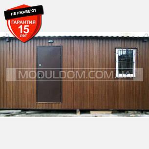 Мобильный дачный домик (9 х 3,7 м.), на основе цельно-сварного металлического каркаса., фото 2
