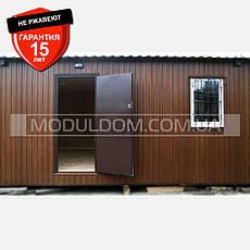 Мобильный дачный домик (9 х 3,7 м.), на основе цельно-сварного металлического каркаса., фото 3