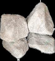 "Щебень мраморный декоративный крупный ""RIAS WHITE/GREY"" KLVIV, фр. 40 - 80мм. (Меш.10 кг) (Биг-бег 1.2-1.4 т.), фото 1"