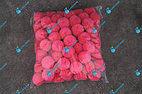 Помпоны, мягкие шарики, бубончики 30мм/Малина 100шт., фото 1