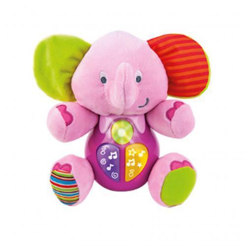 Детская игрушка Слоник 18 см 0689G-NL музыкальный со светом на батарейках