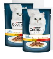 Влажный корм для кошек Gourmet Perle Purina (Гурме Перл Пурина) с курицей и говядиной в подливке, 0,85 г
