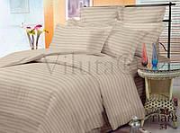 """Однотонное полуторное постельное бельё из сатина в тонкую полоску """"Stripe 54"""""""