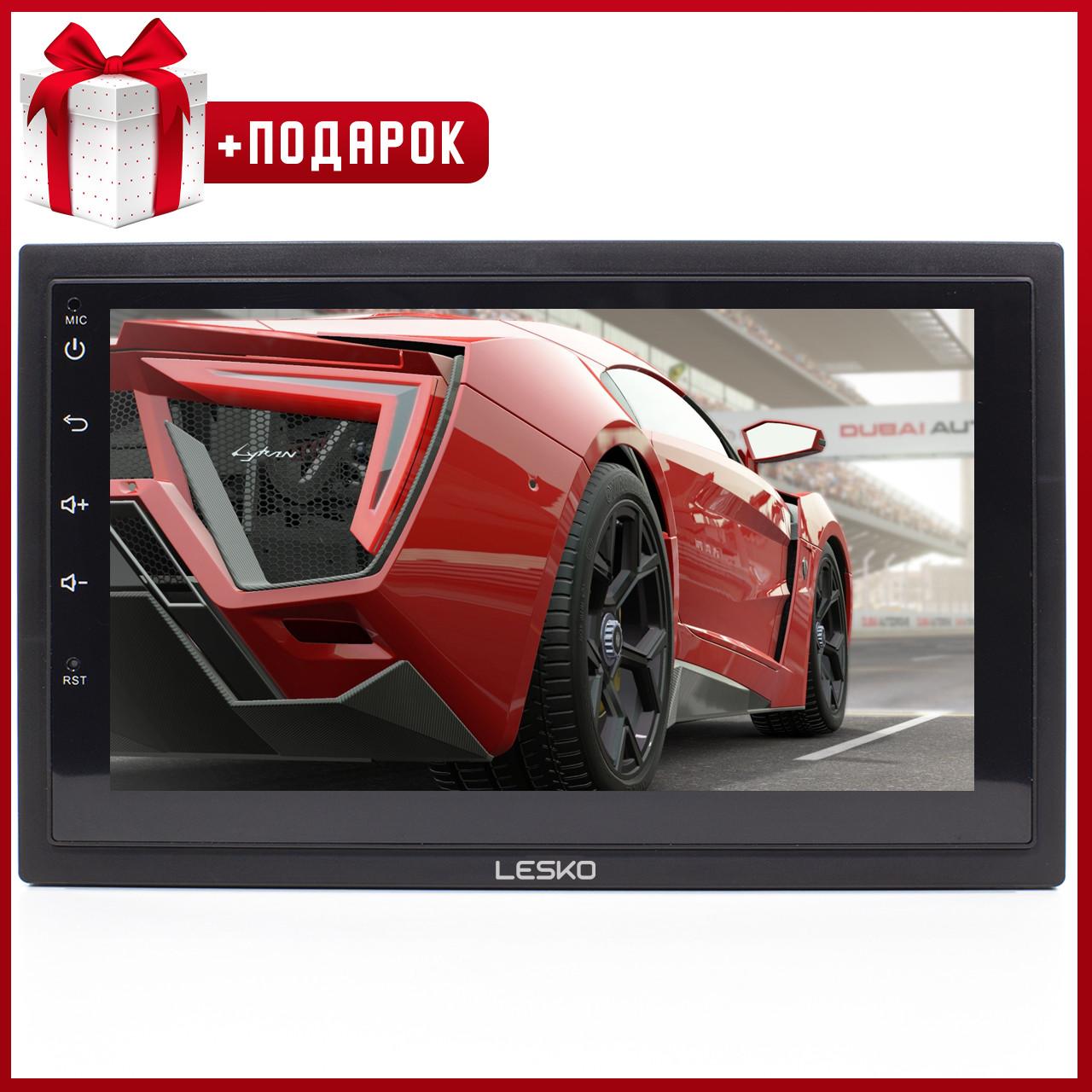➺Магнитола 7'' Lesko 7003А память 1/16GB 2 Din bluetooth MP3 GPS навигатор WiFi Андроид 8.1 + Рамка в подарок