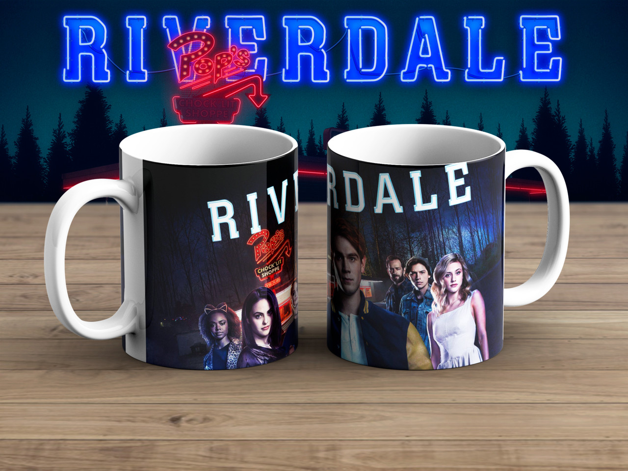 Чашка Ривердэйл / Riverdale Все вместе с логотипом
