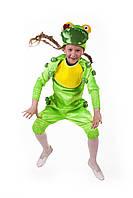 Детский карнавальный костюм для детей «Лягушка» 110-120 см, зеленый, фото 1