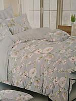 Постельное белье с цветами, размеры полуторный, двухспальный, евро, ткань бязь
