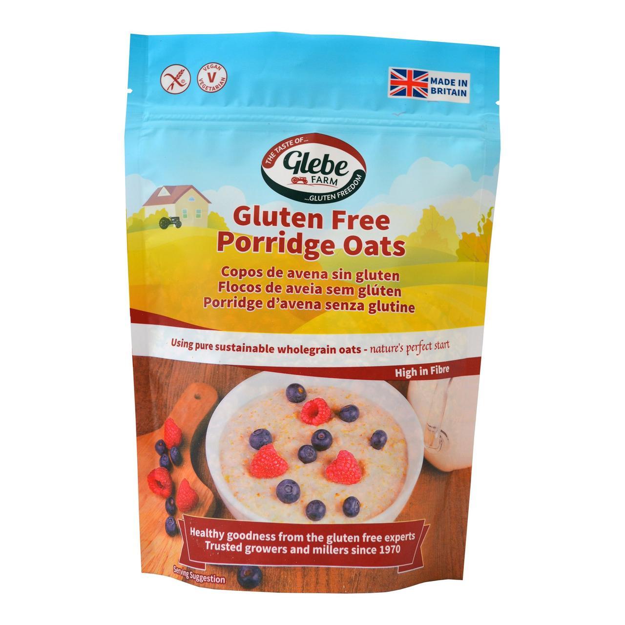 Готовий безглютеновий сніданок Porridge Oats,  ТМ Glebe Farm