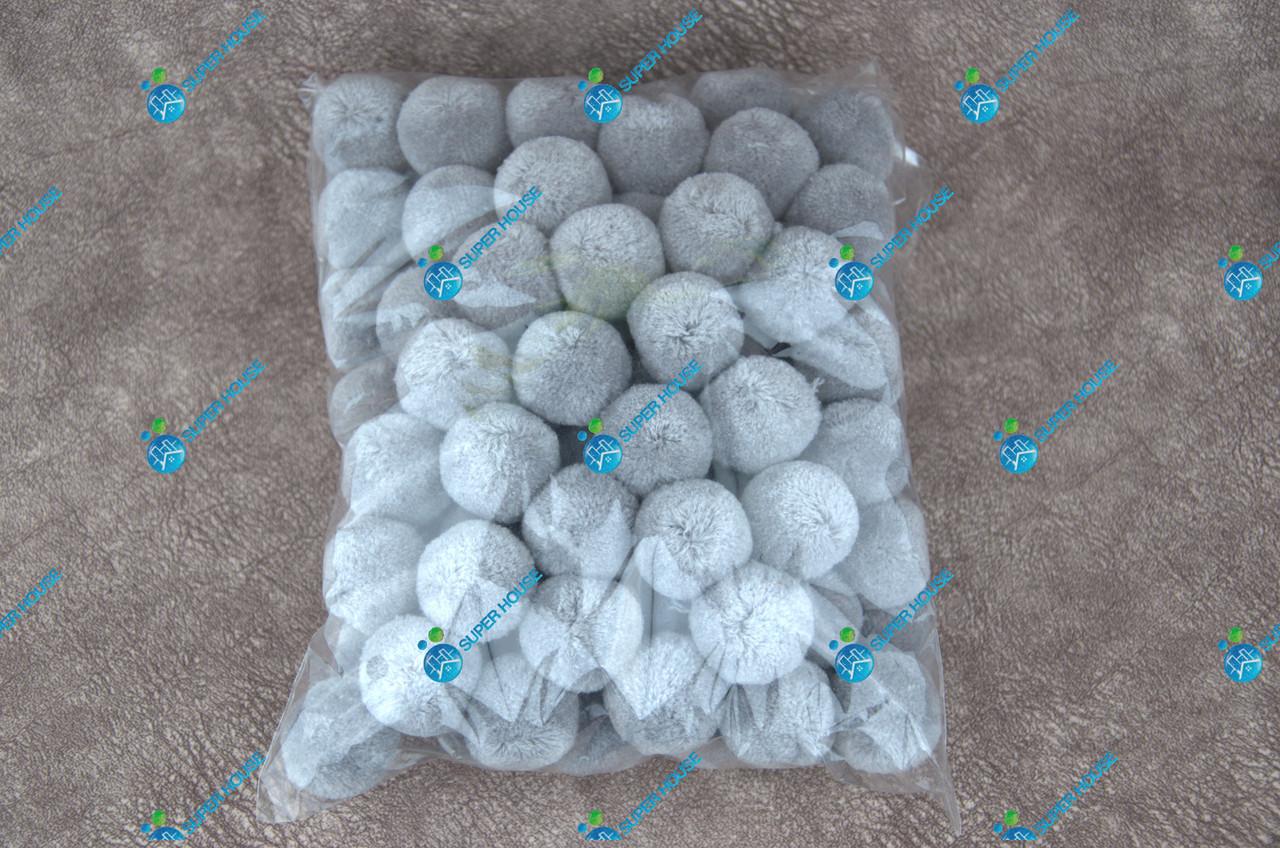 Помпоны, мягкие шарики, бубончики 30мм/ Серый 100шт.