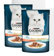 Влажный корм для кошек Gourmet Perle Purina (Гурме Перл Пурина) с лососем и сайдой в подливке, 0,85 г
