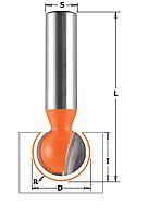 Фреза пазовая с шаровой режущей частью CMT 12,7х11х6,35 мм хв.8мм (арт.968.127.11)