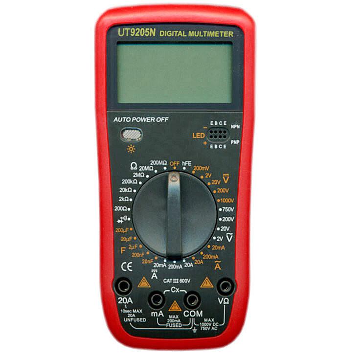 Мультиметр цифровой VC 9205N в защитном чехле