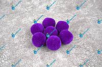 Помпоны, мягкие шарики, бубончики 30мм/ Фиолет 100шт., фото 1