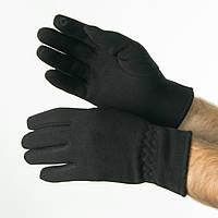 Оптом трикотажные  мужские  перчатки на плюше   № 19-22-1/3, фото 1